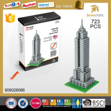 Education kid toys Empire state building block puzzle design diy building block