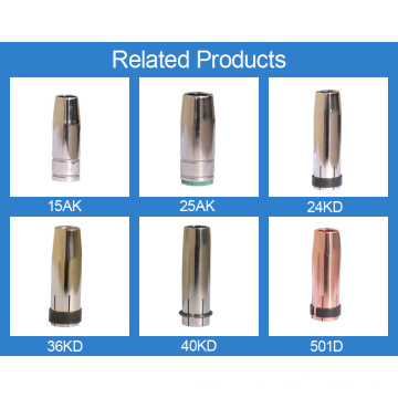 Copper 15AK welding nozzle