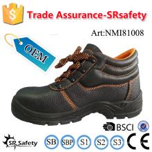 SRSAFETY 2016 embossement de fourrure de vache chaussures de sécurité en cuir chaussures de sécurité industrielles pointes en acier chaussures de sécurité chaussures utiles