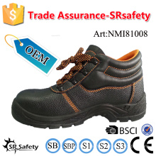 SRSAFETY 2016 emboss cow split leather safety shoes industrial safety shoes steel toes safety shoes usefull shoes