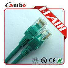 Cable de remiendo del enchufe del conectador del cat5e rj45 del conectador cristalino 8Pin con utp