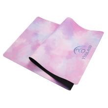Custom Print new design home travel mat eco friendly rubber suede 4mm yoga mat