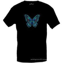 [Stunningl]Wholesale 2009 fashion hot sale T-shirt A43,el t-shirt,led t-shirt