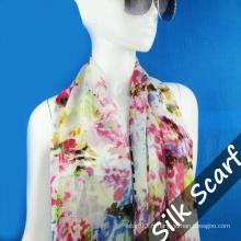 Longue écharpe en soie Hangzhou pour femme