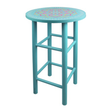 Light blue color  India and Pakistan printing design  bar chair