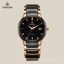 Relógios de forma personalizados baratos 72115 dos homens do diamante