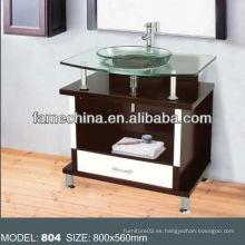 2013 Vidrio y madera vanidad de tocador de baño vanidad
