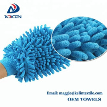 Car mirror / window cleaning uesd easy to wash chenille wiping gloves