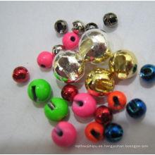 Dia1.5-Dia5.5mm Cuentas de tungsteno de diferentes colores ranuradas para atar moscas