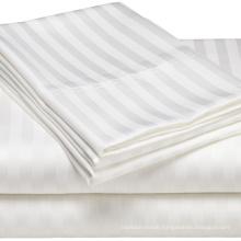 100%Cotton Hotel Bedding Set 30mm Stripe Bedsheet