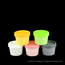 Couvercles en plastique colorés de pot de maçon de 50ml 100ml 200ml (NJ15)