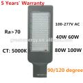 5 anos de garantia preço direto da fábrica UL ETL ES DLC TUV aprovação 100 watt novo venda quente LED luzes da rua 2018