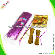 Provide foil paper double wire twist ties clip band bag closures