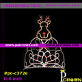 Big deer flower christmas pageants tiaras Crown