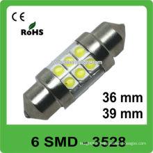 12V 36mm 6 lampe auto LED à feston SMD