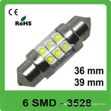 12V 36mm 6 SMD festoon led auto lamp
