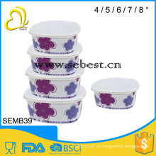 Melamin-Eisschüssel 5pcs mit dem Deckelsatz