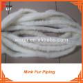 High Quality Natural White Mink Fur Trim