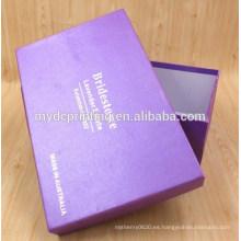 Caja de zapatos al por mayor de alta calidad de cartón personalizado