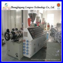 Extrusor de tornillo doble cónico plástico PVC