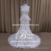 Свадебные новый Русалка без бретелек пухлые сексуальные кружева тюль юбка невесты платье 2017