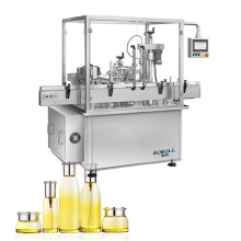 Automatic Electric Glass Shampoo Cosmetic  Bottle Capping Auto Filling Capping Labeling Machine
