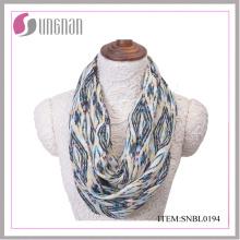 2016 Casual Frauen Quilten Muster Polyester Infinity Schal