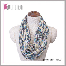 2016 Casual Femmes Quilting Pattern Polyester Infinity Scarf