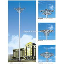 2015 La mejor venta 20-60M galvanizó el alto poste del poste de la iluminación del mástil de la carretera