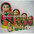 muñeca de anidación de madera de alta calidad de Rusia