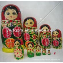 hochwertige Holz Handwerk Russland Verschachtelung Puppe