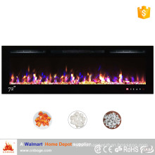 "Newest 72"" decor flame electric fireplace insert"