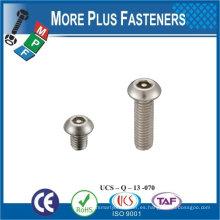 Hecho en Taiwán Alta calidad de los tornillos de seguridad Hex Soclet Pin cabeza máquina de tornillo