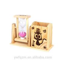 Mini reloj de arena de encargo de la venta de la decoración de la manera de encargo simple del hogar
