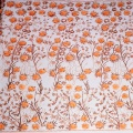 Orange Floral Sequin Embroidery Tulle Lace