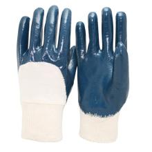 NMSAFETY Amostra grátis luvas de nitrilo azul para óleo luva de trabalho industrial EN388 3111