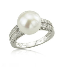 Cheap Fake Sterling Silver Engagement Pearl Rings