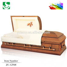 American style solid wooden wholesale modern oak caskets
