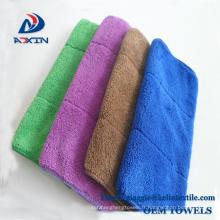 Chiffon de nettoyage de la poussière de Microfiber de fournisseur de chines avec le matériel de molleton de corail
