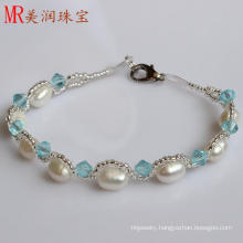 100% Genuine Freshwater Pearl Bracelet Jewelry for Christmas Gift