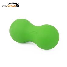 Bola macia high-density da lacrosse do dobro da terapia do músculo do silicone