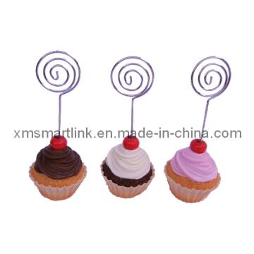 Suporte de menu de decoração de bolos de resina poli resina