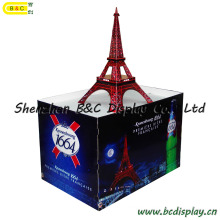 The Eiffel Tower Paris France Beer Counter Stand / Unibody Stand Shelves / Paper Counter Stnad (B&C-C005)