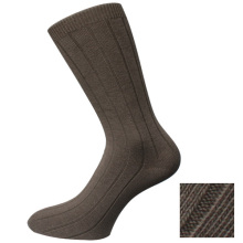 Brown Classic Plain Men's Socks