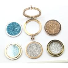 Porte-clés en plaqué or 18 carats avec plaque de monnaie interchangeable
