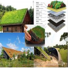 Hoja de drenaje de hoyuelos de plástico utilizada en pendiente verde