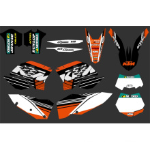 0282 New Team Graphics with Matching Backgrounds Fit for Sx Xc Xc-W Exc Series 2008 2009 2010 2011