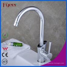 Fyeer China Único punho ganso pescoço torneira da pia da cozinha (QH1771K)