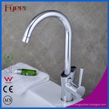 Fyeer Китай одной ручкой гусиной шеи Смеситель для кухни раковина (QH1771K)