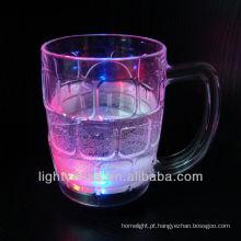 Brilho LED piscando vidro champanhe